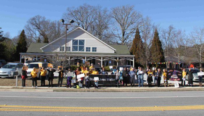 #blacklivesmatter roadside protest